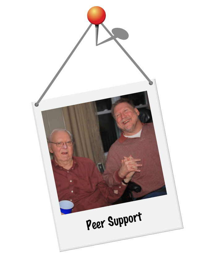 We offer social and support groups to facilitate peer support!